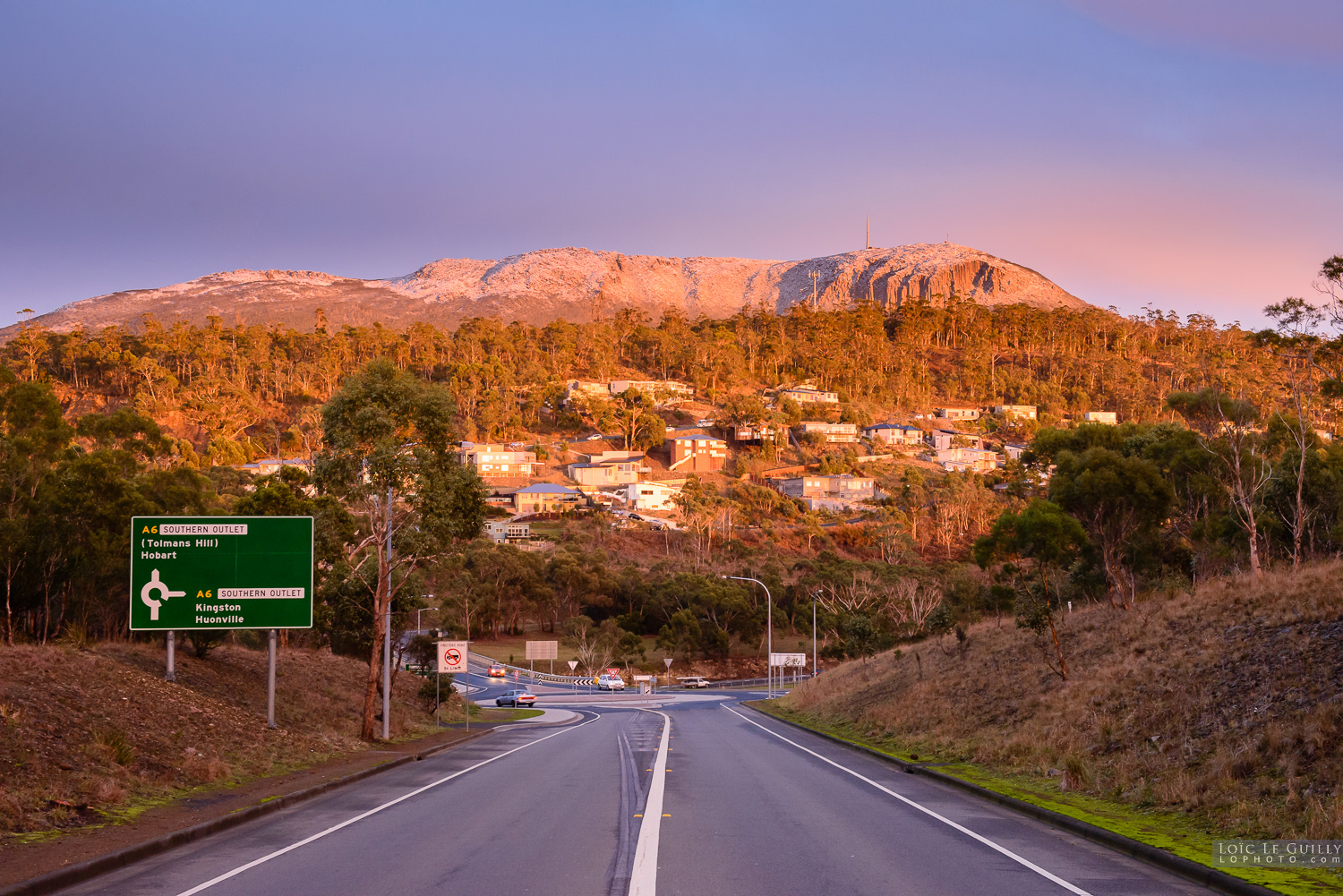 photograph of Sunrise over Mt Wellington