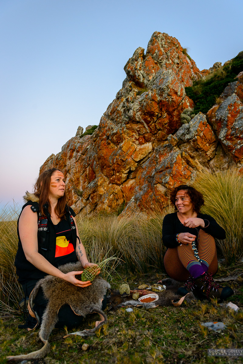 photograph of Aboriginal women, Tarkine coast