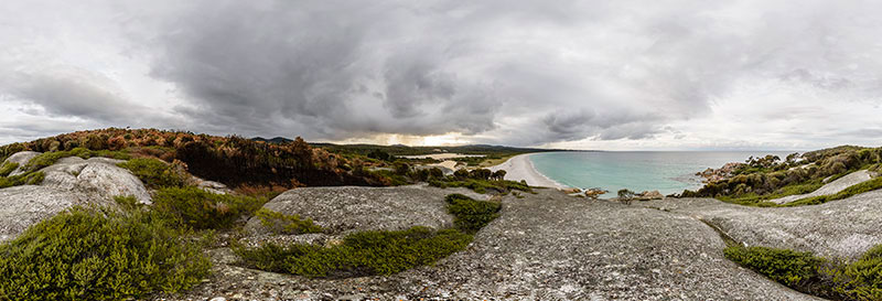 360 panorama of Bay of Fires