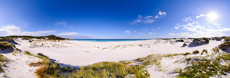 360 panorama of Bay of Fires near Eddystone Point