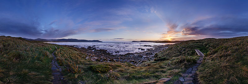 360 panorama of Bruny Island, Cloudy Bay