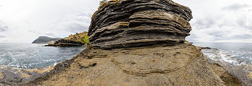 360 panorama of Fossil Cliffs, Maria Island