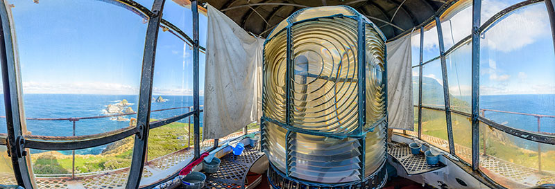 360 panorama of Inside the lighthouse at Maatsuyker Island