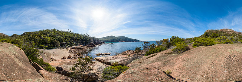 360 panorama of Sleepy Bay, Freycinet