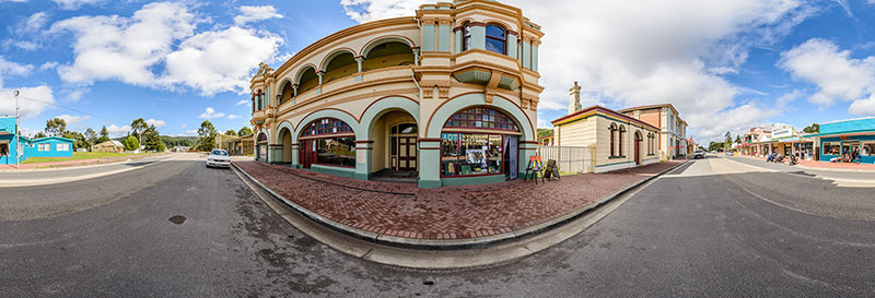 360 panorama of Zeehan main street